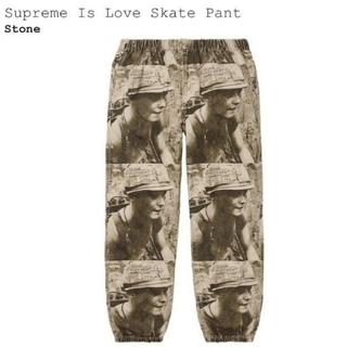 Supreme - Supreme Is Love Skate Pant Stone L