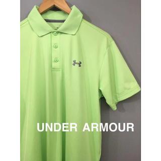 アンダーアーマー(UNDER ARMOUR)の【美品 良品】アンダーアーマー UNDER ARMOUR ポロシャツ MD黄緑 (ポロシャツ)