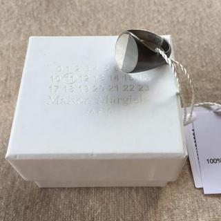 マルタンマルジェラ(Maison Martin Margiela)の19AW新品M マルジェラ ツートーン シグネットリング オーバル 今季(リング(指輪))