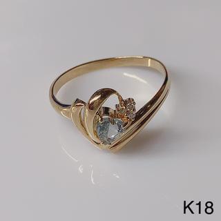K18 アクアダイヤモンド リング