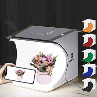 撮影ボックス 小型折りたたみ式 撮影ブース 撮影キッド1列LEDライト付き