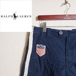 ポロラルフローレン(POLO RALPH LAUREN)のポロ ラルフローレン ショーツ 星条旗 デカロゴ 90s USA アメトラ(ショートパンツ)
