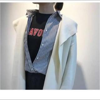 フレイアイディー(FRAY I.D)のバッグオープン シャツ(シャツ/ブラウス(長袖/七分))