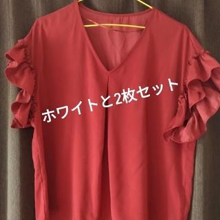 ジーユー(GU)のGU袖フリルブラウス2枚セット売り(シャツ/ブラウス(半袖/袖なし))