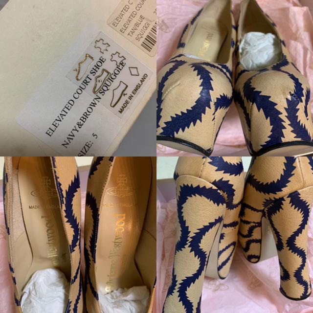 Vivienne Westwood(ヴィヴィアンウエストウッド)の希少 スクイグル エレベーテッド コート UK5 レディースの靴/シューズ(ハイヒール/パンプス)の商品写真