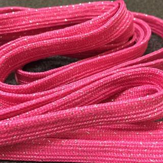 新品 くつひも ピンク キラキラ ラメ  グリッター ロングサイズ(スニーカー)