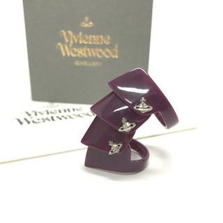 Vivienne Westwood レジン アーマーリング パープル S 箱付(リング(指輪))
