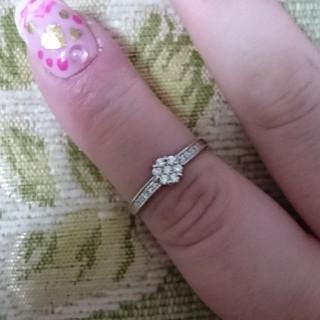 美品 K18 ダイヤモンドリング 14号(リング(指輪))