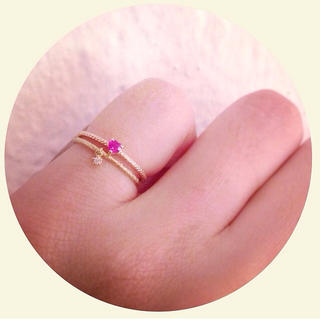 ジュピターゴールドレーベル(jupiter GOLD LABEL)のjupiter (ジュピター) promise ring ハート ピンキーリング(リング(指輪))