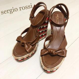 Sergio Rossi - 美品!セルジオロッシ 26.0 本革 イタリア製 ブラウン サンダル