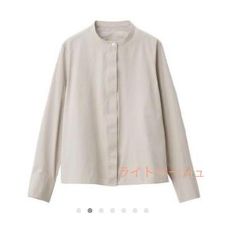 MUJI (無印良品) - 新疆綿 洗いざらしブロード スタンドカラーシャツ