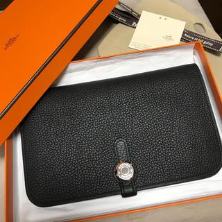 Hermes - エルメス ドゴン 長財布 黒 ブラック 美品