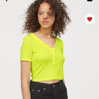 エイチアンドエム(H&M)のH&M♡ヘンリーネックリブtops(Tシャツ(半袖/袖なし))