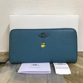 COACH - ☆新品未使用☆コーチCOACH☆スヌーピーコラボ 長財布☆ブルー
