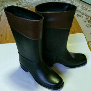 イング(ing)のイング ing レインブーツ  黒×茶(レインブーツ/長靴)