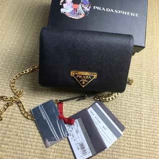 PRADA - プラダ プラダ ショルダーバッグ サフィアーノ ミニ バック ブラック 黒