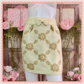 リズリサ(LIZ LISA)の新品タグ付き【LIZ LISA】ニット♡リボンミニスカート♪(ミニスカート)