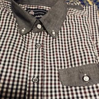長袖チェック柄シャツ Mサイズ(Tシャツ/カットソー(七分/長袖))