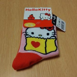 ハローキティ(ハローキティ)のキティ靴下 14~19cm【新品】(靴下/タイツ)