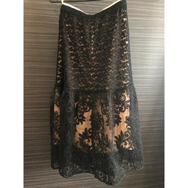 N°21(ヌメロヴェントゥーノ)のヌメロヴェントゥーノ  レーススカート レディースのスカート(ひざ丈スカート)の商品写真
