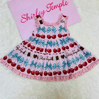 Shirley Temple - シャーリーテンプル チェリーチョコ ワンピース 90