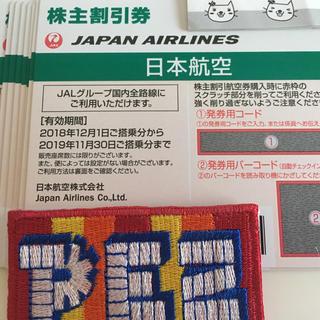 JAL(日本航空) - JAL 株主優待券 1枚 2019年11月30日