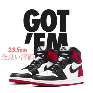 W 23.5 Nike jordan 1 BLACK TOE