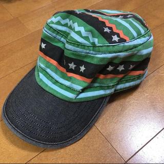 ampersand - キャップ 帽子 54㎝ アンパサンド ampersand 星 ボーダー 緑 公園