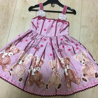 Shirley Temple - シャーリーテンプル くまジャンパースカート 110