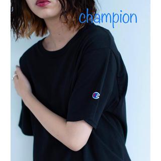 Champion - champion チャンピオン 半袖 Tシャツ 無地 刺繍ロゴ 黒 新品 未開封