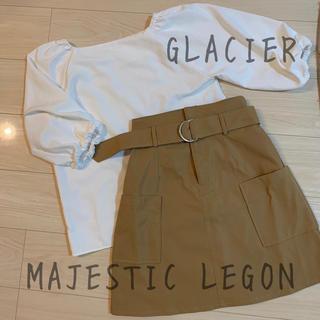 MAJESTIC LEGON - 美品 ブラウス& 新品 スカート 2点セット