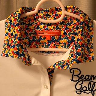 BEAMS - ビームスゴルフ 花柄 ポロシャツ ストレッチ