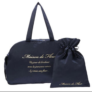 Maison de FLEUR - Maison de FLEUR♡ボストントラベルキャリーオンMバッグ♡ネイビー
