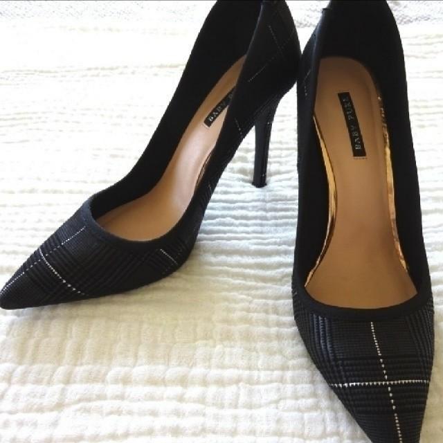 チェック柄のハイヒール レディースの靴/シューズ(ハイヒール/パンプス)の商品写真