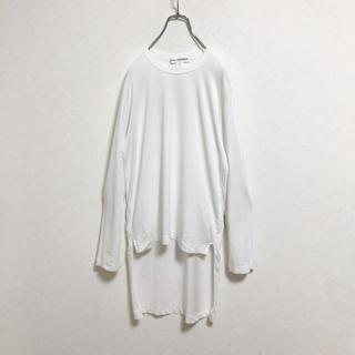 COMME des GARCONS HOMME PLUS - 【廃盤】コムデギャルソンシャツ アシンメトリー ロンT メンズ ホワイト S