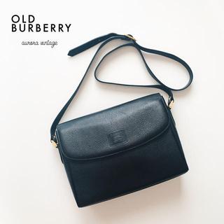BURBERRY - 良品‼︎大人気デザイン◆オールドバーバリーズレザー×ノバチェックショルダーバッグ