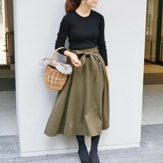 IENA - ウールチノリボンフレアースカート