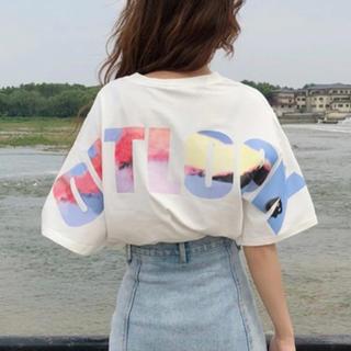 人気‼ レディース Tシャツ 白 L ストリート系 10920(Tシャツ(半袖/袖なし))