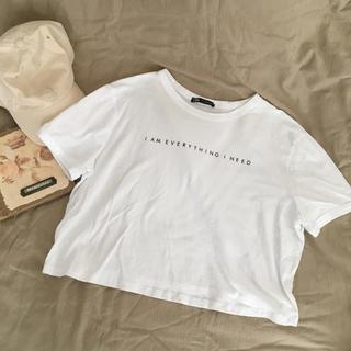 ザラ(ZARA)のzara  Tシャツ 美品 即購入可能☺︎(Tシャツ(半袖/袖なし))