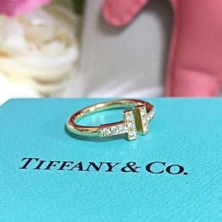 Tiffany & Co. - ティファニー ダイヤ Tワイヤー リング指輪