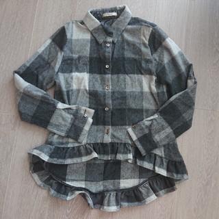 フレイアイディー(FRAY I.D)の美品フレイアイディー裾フリルチェックシャツ(シャツ/ブラウス(長袖/七分))