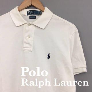 POLO RALPH LAUREN - ポロ ラルフローレン 半袖ポロシャツ 鹿の子 ホワイト 白 ワンポイントポニー