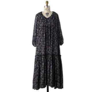 Drawer - 18AW  Drawer フラワープリントギャザーワンピース
