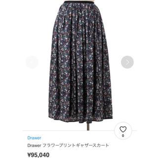 Drawer - 2018AW ドゥロワー フラワープリントギャザースカート