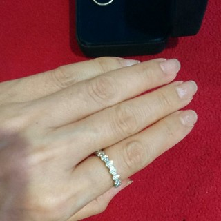 美品 ☆PT900 天然ダイヤフルエタニティリング※計1.066CT(リング(指輪))