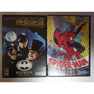 SEGA - MD バットマン・リターンズ & スパイダーマン アメコミセット メガドライブ