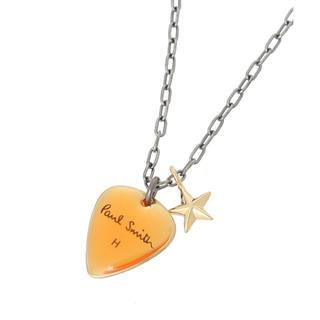 """Paul Smith - ポールスミス """" PICK & STAR """" ピック ネックレス オレンジ"""