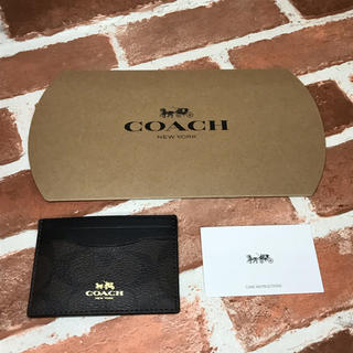 COACH - coach コーチ 名刺入れ カードケース 新品未使用