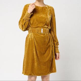 ローズバッド(ROSE BUD)のROSE BUD 新品 二次会 イエロー  入園式 入学式 卒業式 卒園式 黄色(ミディアムドレス)