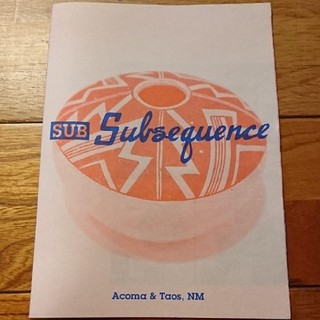 Subsequence  Acoma & Taos, NM  非売品